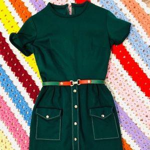Vintage 70's mini dress with belt